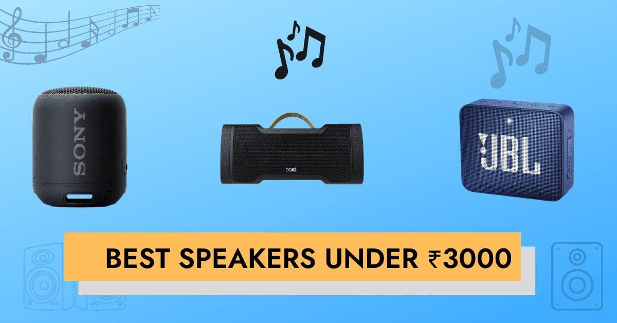 best speakers under ₹3000 india
