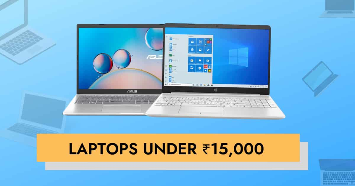 Laptops under 15000 cover